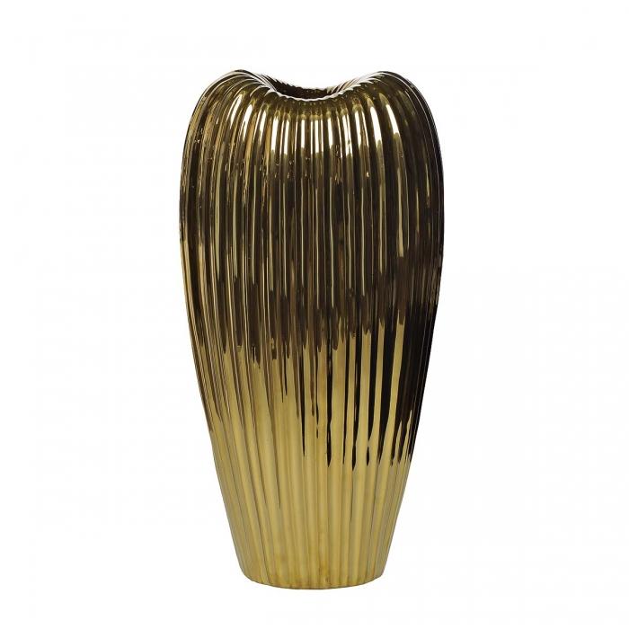 Ваза керамическая золотая 10K9041B