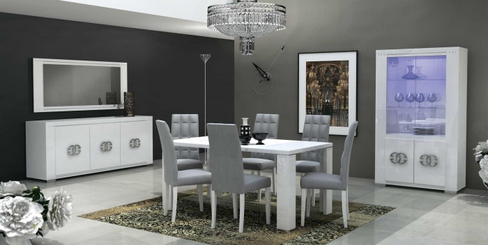 Столовые группы Elegance Diamond White Lux