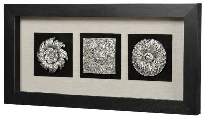 Панно Вертикальный декор-1 черная рама 17339A