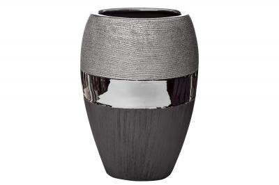 Ваза керамическая черно-серебристая 18H2373L-2