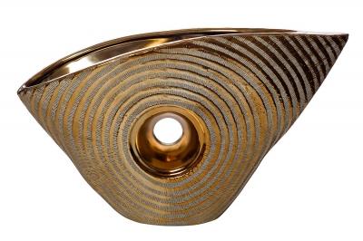 Ваза керамическая декоративная (золотая) 18H2508L-4