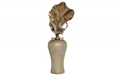 Ваза декоративная золотистая с крышкой 71PN-50736