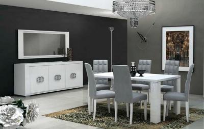 Столовые группы Elegance Diamond White Lux